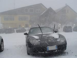 Neve all'Albergo Corsaro Nicolosi Etna