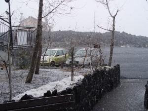 Neve sull'Etna all'Hotel Corsaro