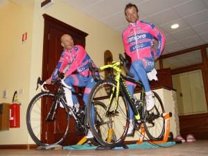 Team Lampre all'Albergo Corsaro Etna Nicolosi