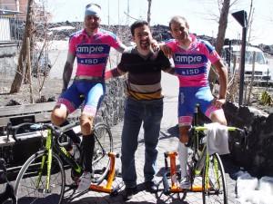Team Lampre on Etna at Hotel Corsaro