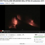 Etna video of 09/28 eruption