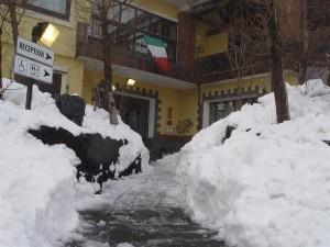 Neve sull'Etna all'albergo Corsaro