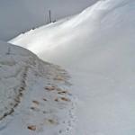 Road under snow on Etna