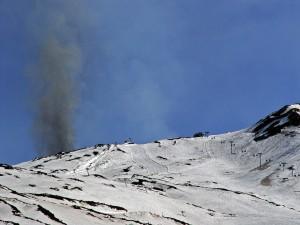 Etna paroxism with snow