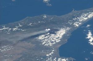 Luca Parmitano on ISS - Etna