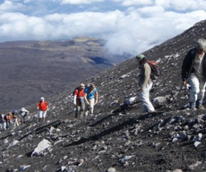 Excursions to the top craters