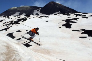 Skiing on Etna