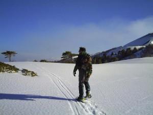 Snow trekking
