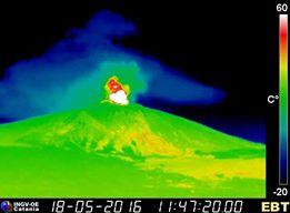 Nord Est crater woke up!